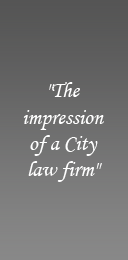 The impression of a City law firm
